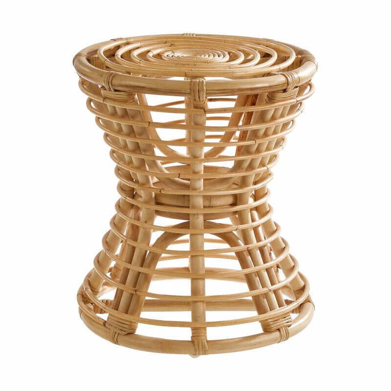 Taburet Berwyn din ratan impletit pe suport de bambus, 45 cm inaltime la pret 210 lei