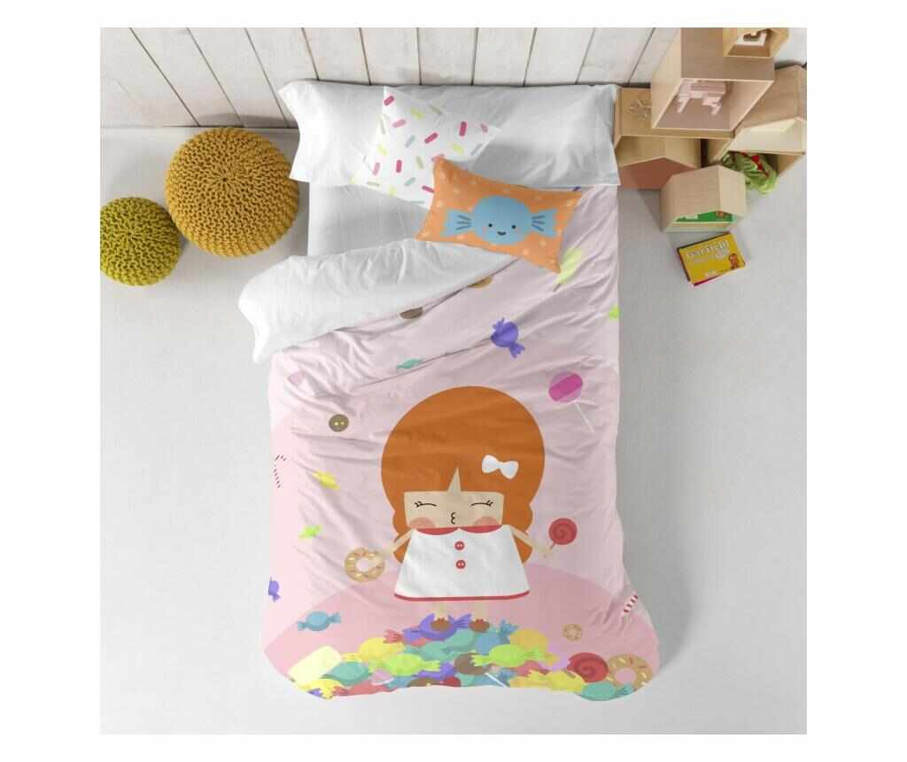 Set de pat Single Candies Square la pret 95.99 lei