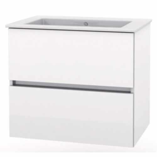 Set mobilier Roca Cube lavoar si dulap baza cu 2 sertare 55x43cm alb la pret 749 lei