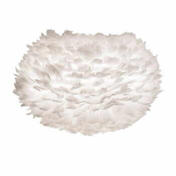 Abajur cu pene de gâscă VITA Copenhagen EOS, Ø 45 cm, alb la pret 681 lei