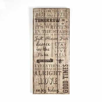Tablou din lemn Graham & Brown Best Day Ever, 30 x 70 cm la pret 139 lei