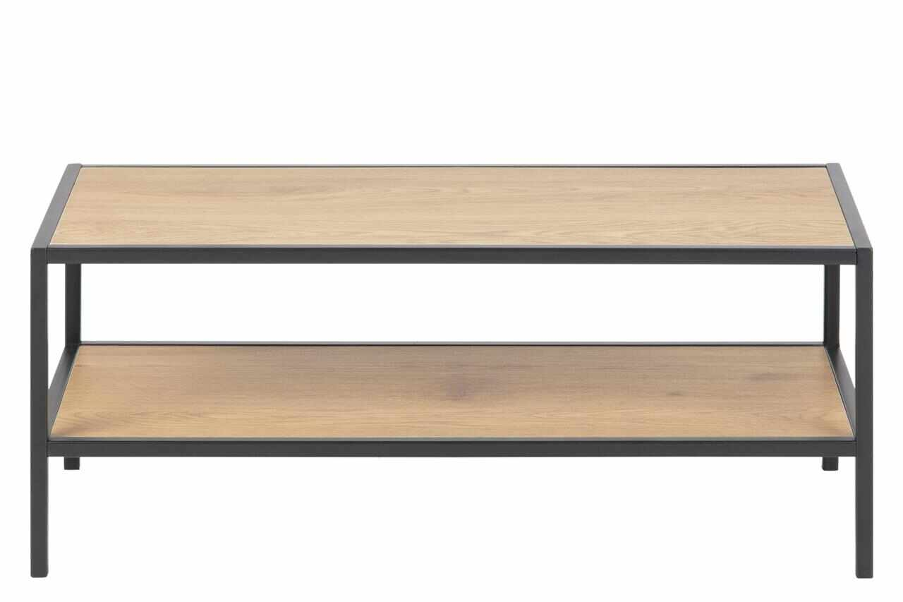 Suport incaltaminte din pal si metal Seaford II Stejar / Negru, l77xA35xH32 cm la pret 263 lei