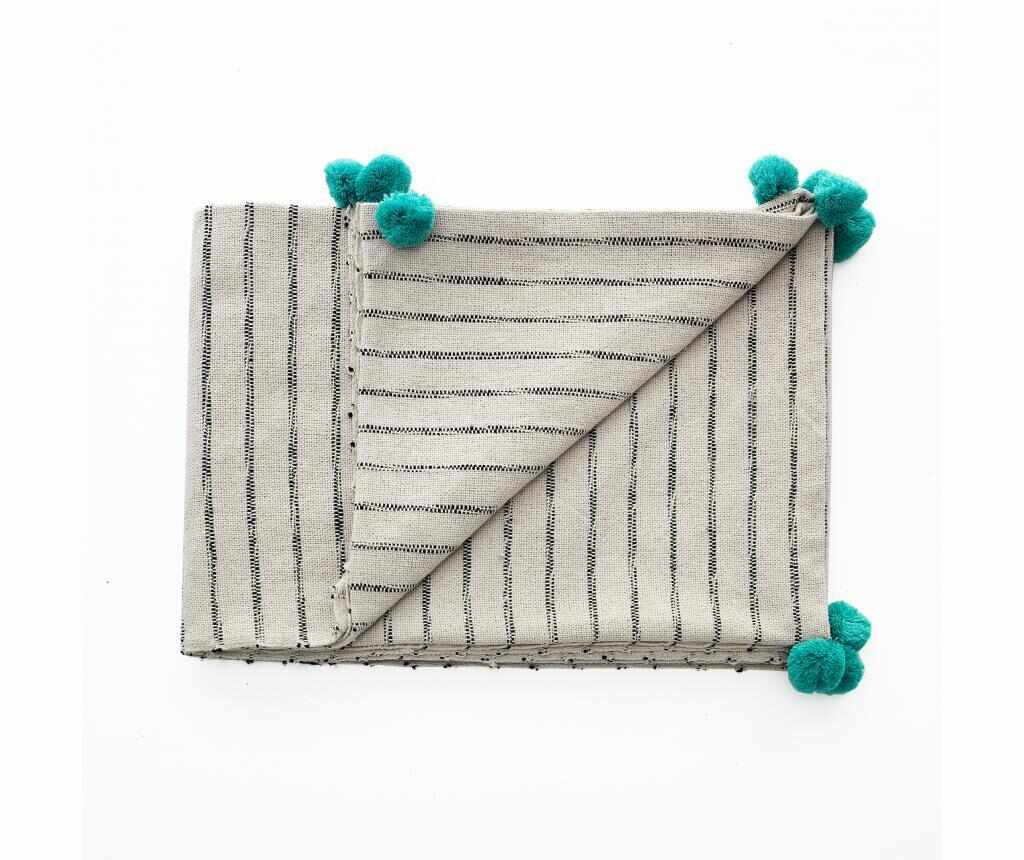 Pled Stripe-A Turquoise