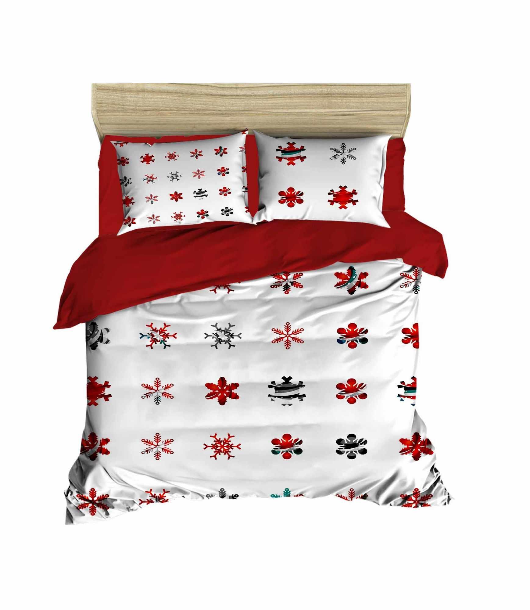 Lenjerie de pat din bumbac si microfibra Christmas 428 Multicolor, 200 x 220 cm la pret 314 lei