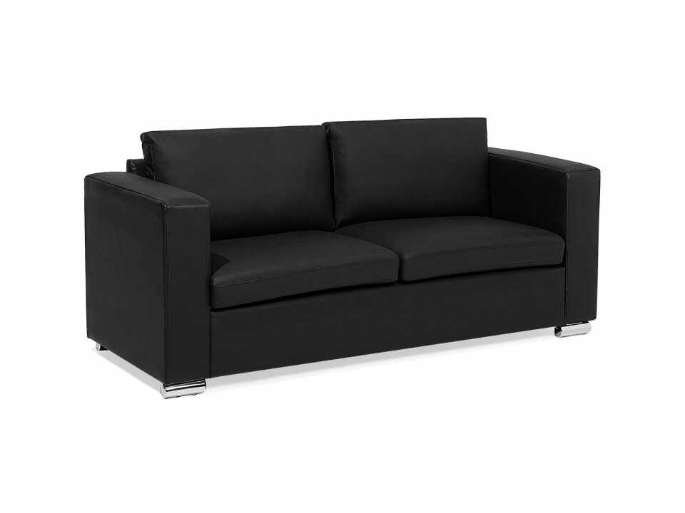Canapea 3 locuri HELSINKI, piele naturala, neagra la pret 1652 lei