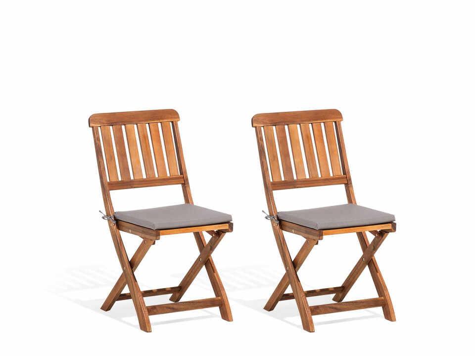 Set de 2 scaune rabatabile CENTO din lemn de salcam la pret 415 lei