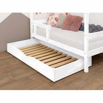 Sertar din lemn pentru pat Benlemi Buddyn,90x160cm, alb la pret 1356 lei