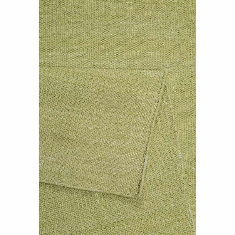Covor Rainbow țesut manual, verde lime, 160 cm x 230 cm