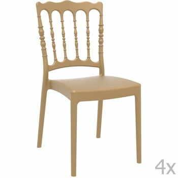 Set 4 scaune grădină Resol Napoleon, bej la pret 729 lei