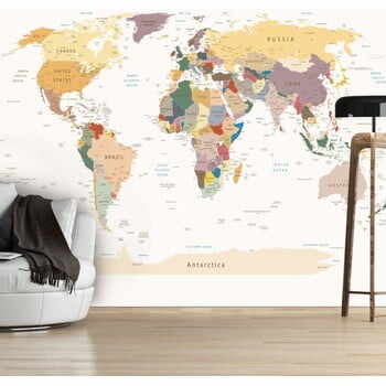 Tapet format mare Bimago World Map, 300 x 210 cm la pret 426 lei