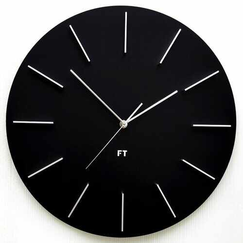 Ceas de perete design Future Time FT2010BK Round black, diametru 40 cm