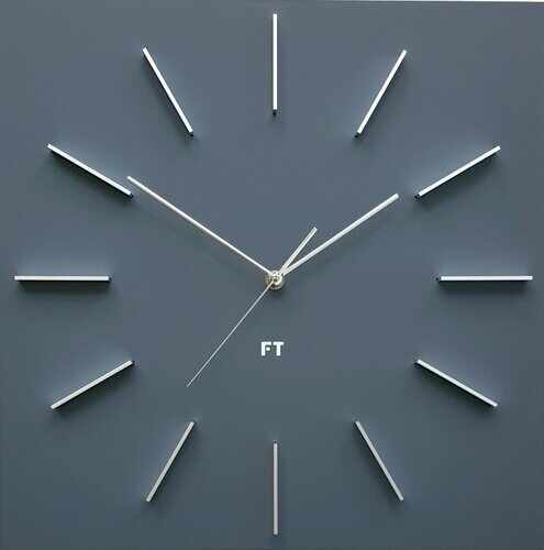 Ceas de perete design Future Time FT1010GY Square grey, 40 cm