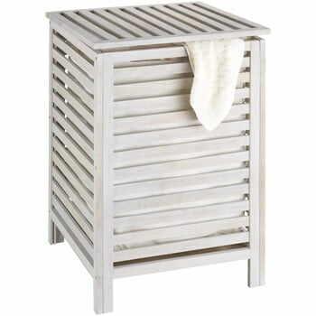 Coș din lemn pentru baie Wenko Laundry Bin Norway, alb la pret 407 lei