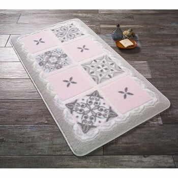 Covoraș de baie Confetti Bathmats Ceramic, 80 x 140 cm, roz la pret 300 lei