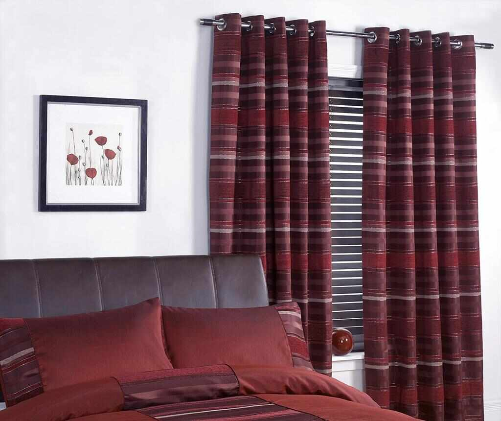 Set 2 draperii New York Red 168x229 cm