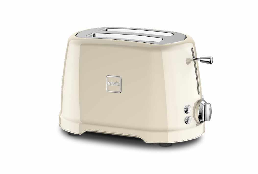 Toaster 2 sloturi, 4 functii, 900W, Novis T2 Crem la pret 708 lei