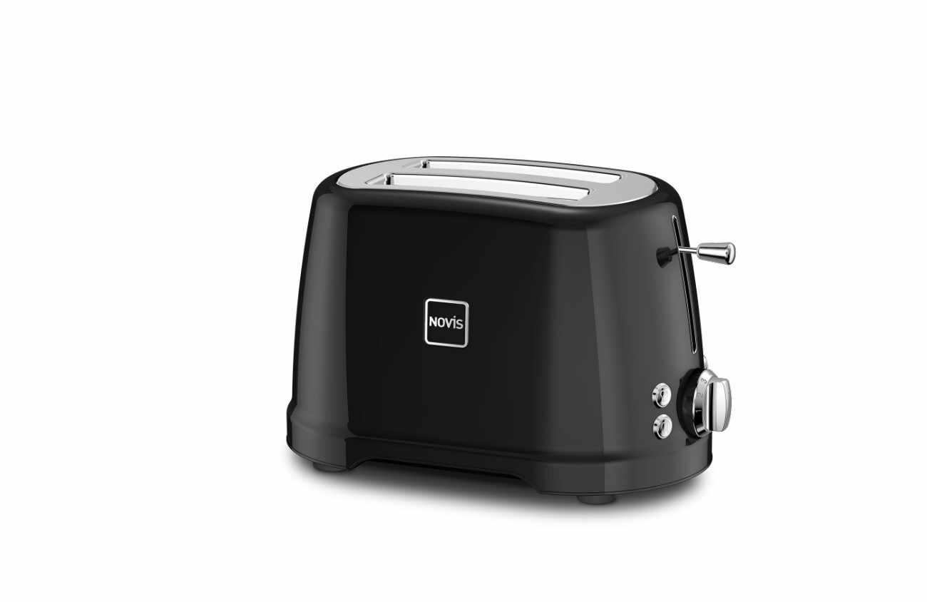 Toaster 2 sloturi, 4 functii, 900W, Novis T2 Negru la pret 708 lei