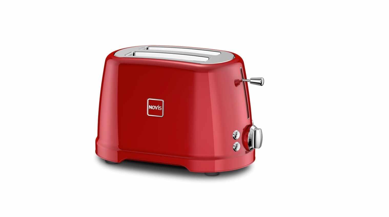 Toaster 2 sloturi, 4 functii, 900W, Novis T2 Rosu la pret 708 lei
