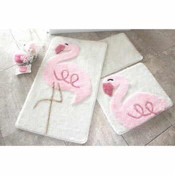 Set 3 covorașe de baie Confetti Bathmats Flamingo la pret 224 lei