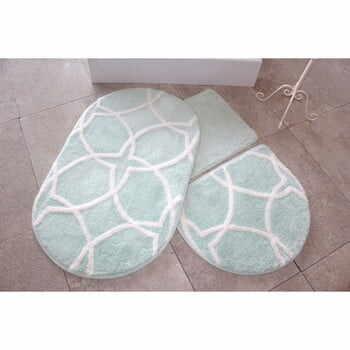 Set 3 covorașe de baie Confetti Bathmats, verde deschis la pret 224 lei
