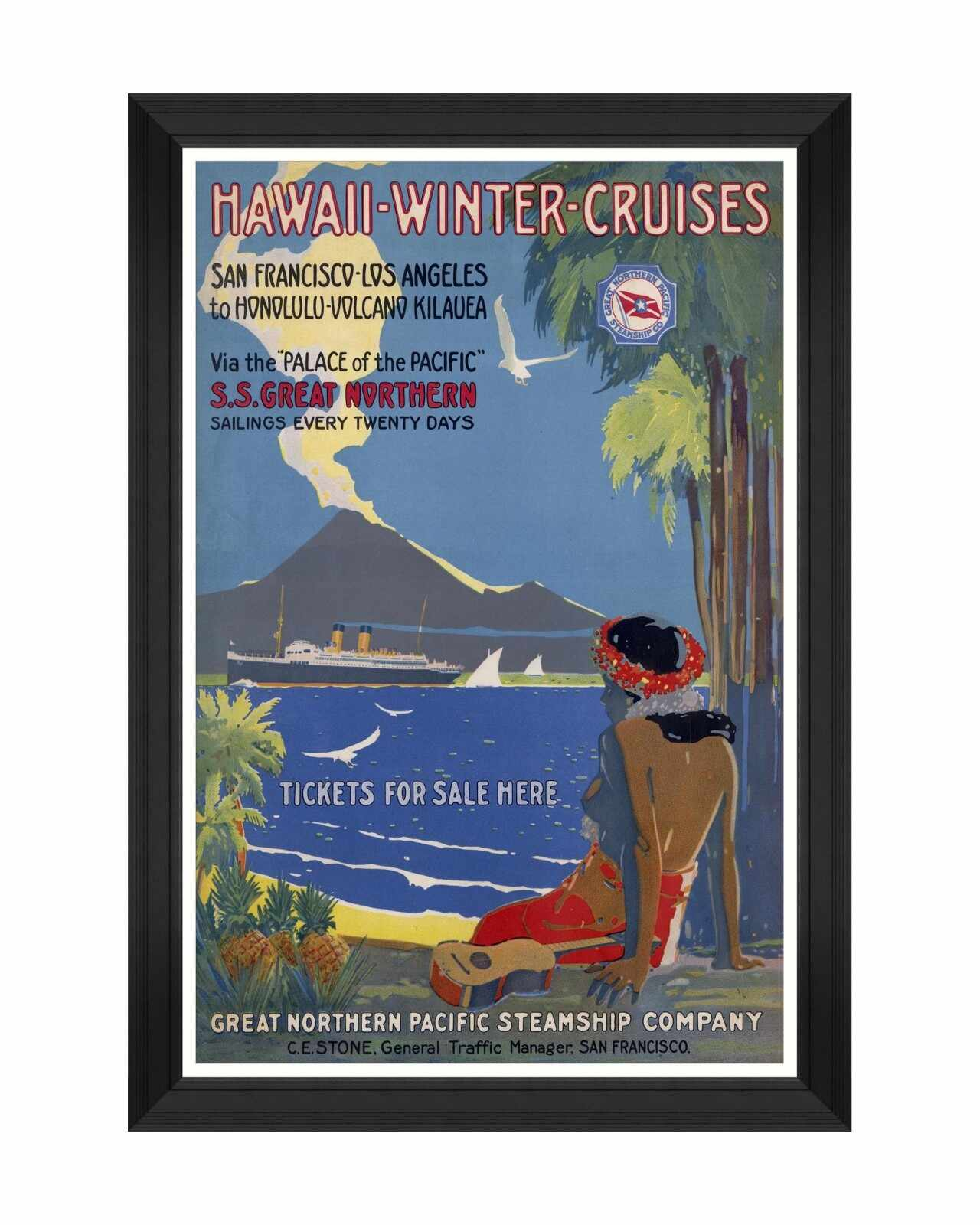 Tablou Framed Art Caribbean Travels - Hawaii Winter Cruises, 60 x 90 cm