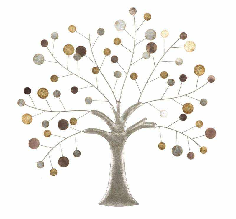 Decorațiune de perete Tree, 88x88x2,5 cm, metal, multicolor la pret 366 lei