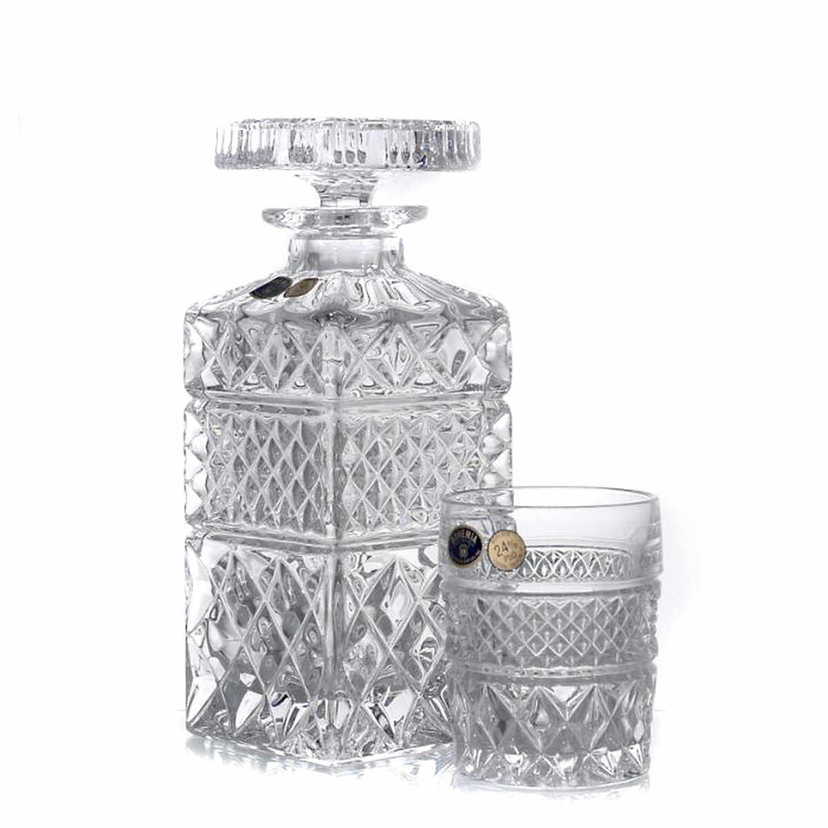 MADISON Set 6 pahare si decantor cristal whisky la pret 295.9 lei