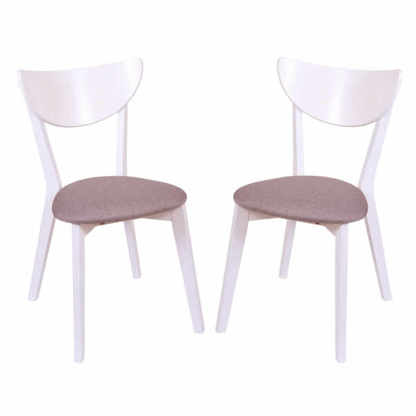Set 2 scaune NEO, Lemn, White Bonus New Cappucino la pret 698.82 lei