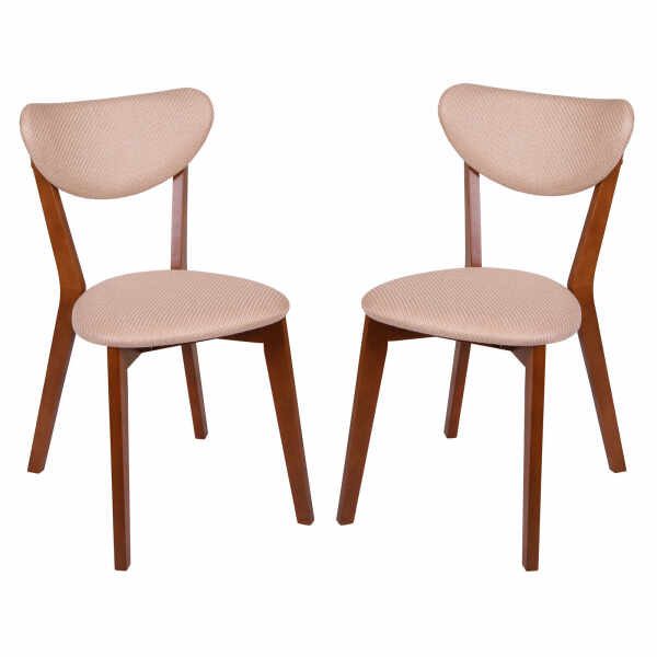 Set 2 scaune Neo M, Lemn, Walnut Brighton Beige la pret 795 lei