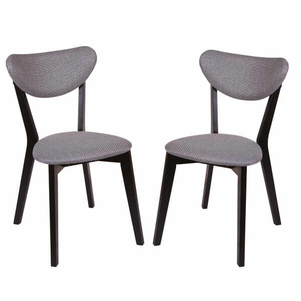 Set 2 scaune Neo M, Lemn, Wenge Brighton Gray la pret 795 lei