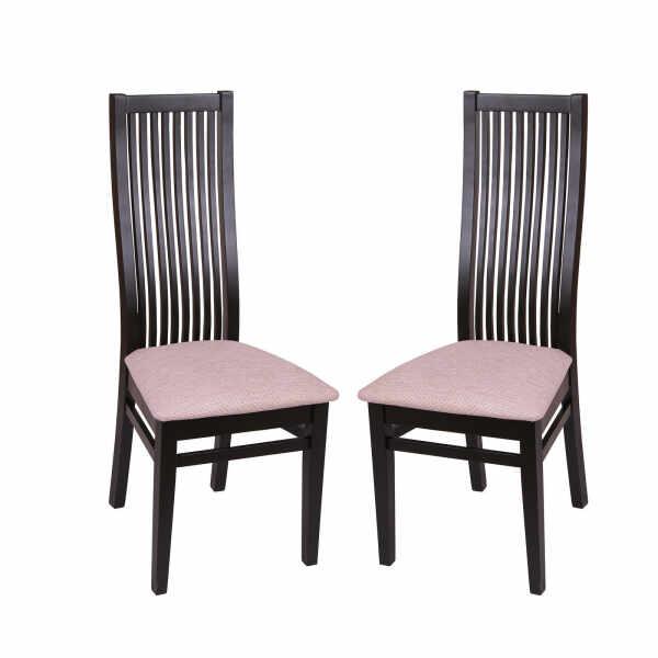 Set 2 scaune Puerto, Lemn, Wenge Regent plain 03 la pret 756.5 lei