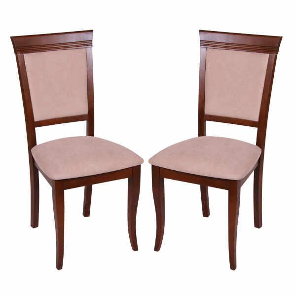 Set 2 scaune ROMA, Lemn, Nut Misty beige la pret 769.61 lei