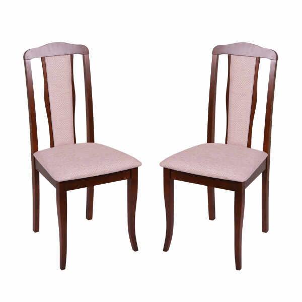 Set 2 scaune San Marino, Lemn, Nut Regent plain 03 la pret 475.96 lei