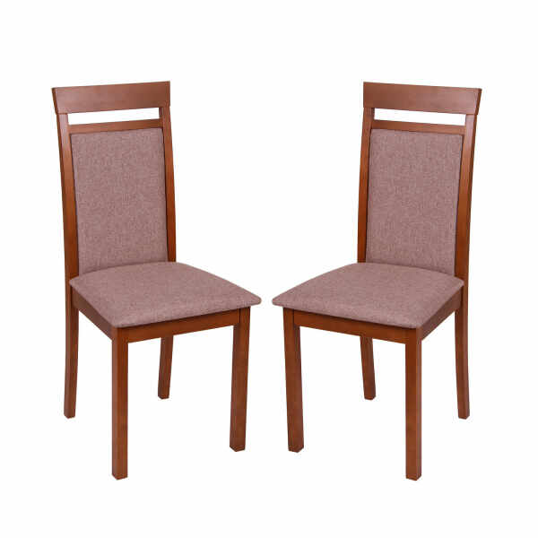 Set 2 scaune Wooden 2, Lemn, Walnut Veles 6 la pret 652 lei