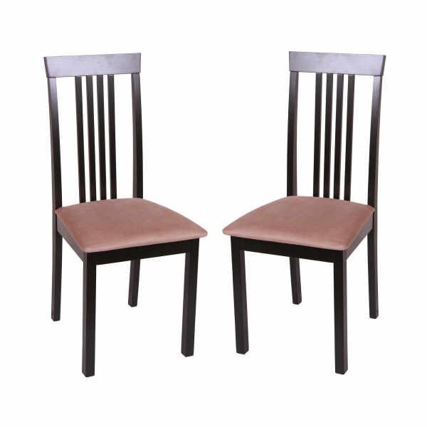 Set 2 scaune Wooden, Lemn, Wenge Aya Nougat la pret 649 lei