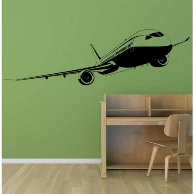 Sticker Passenger Plane Commercial Airplane la pret 27.9 lei