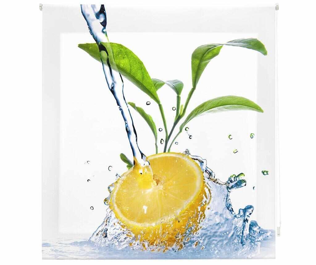 Jaluzea tip rulou Lemon Freshness 160x180 cm - Blindecor, Alb la pret 159.99 lei