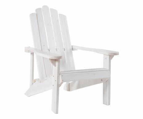 Scaun Relax din lemn masiv, alb la pret 275 lei
