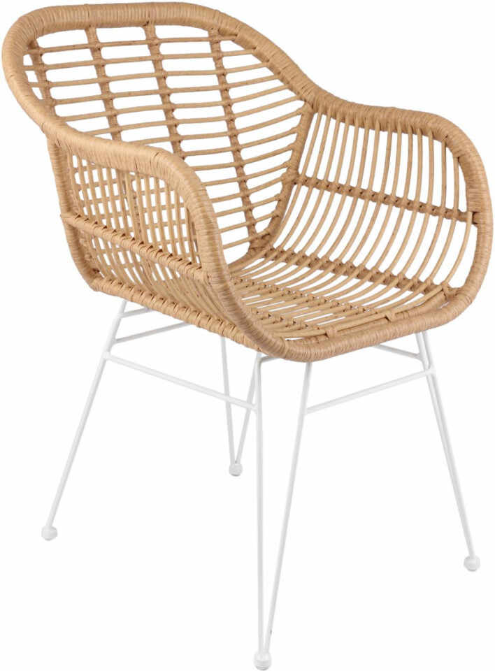 Set de 2 scaune Costa cu cotiere, natur/alb la pret 475 lei
