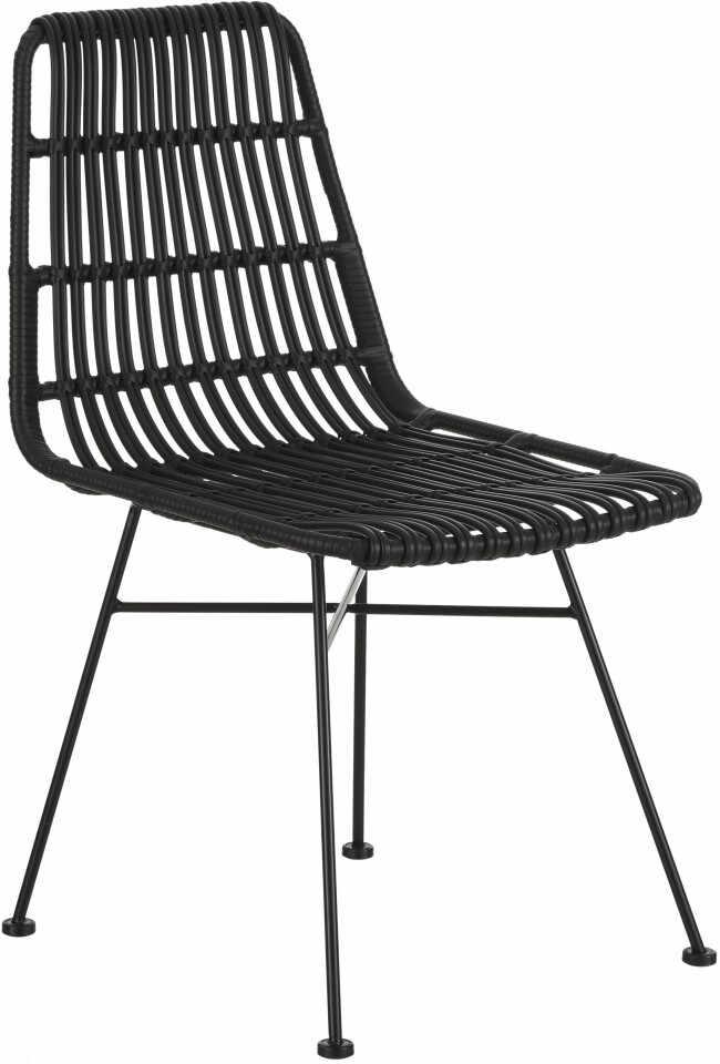 Set de 2 scaune ratan Costa, negru/negru la pret 292 lei