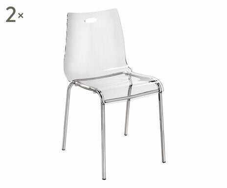 Set de 2 scaune transparente Essentia, 48x54x48cm la pret 1251.95 lei