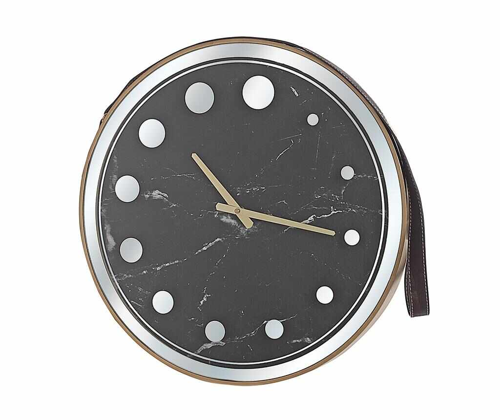 Ceas de perete Marble Black - Disraeli, Negru la pret 229.99 lei