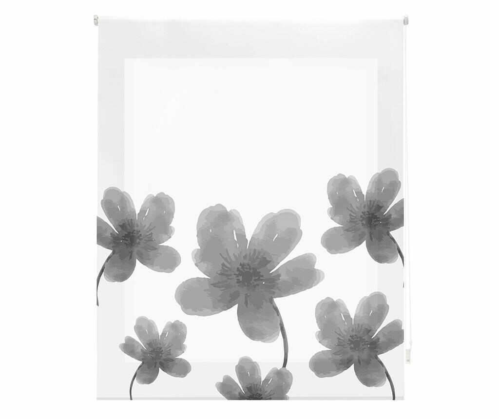 Jaluzea tip rulou Pansies Grey 100x180 cm - Blindecor, Gri & Argintiu la pret 159.99 lei
