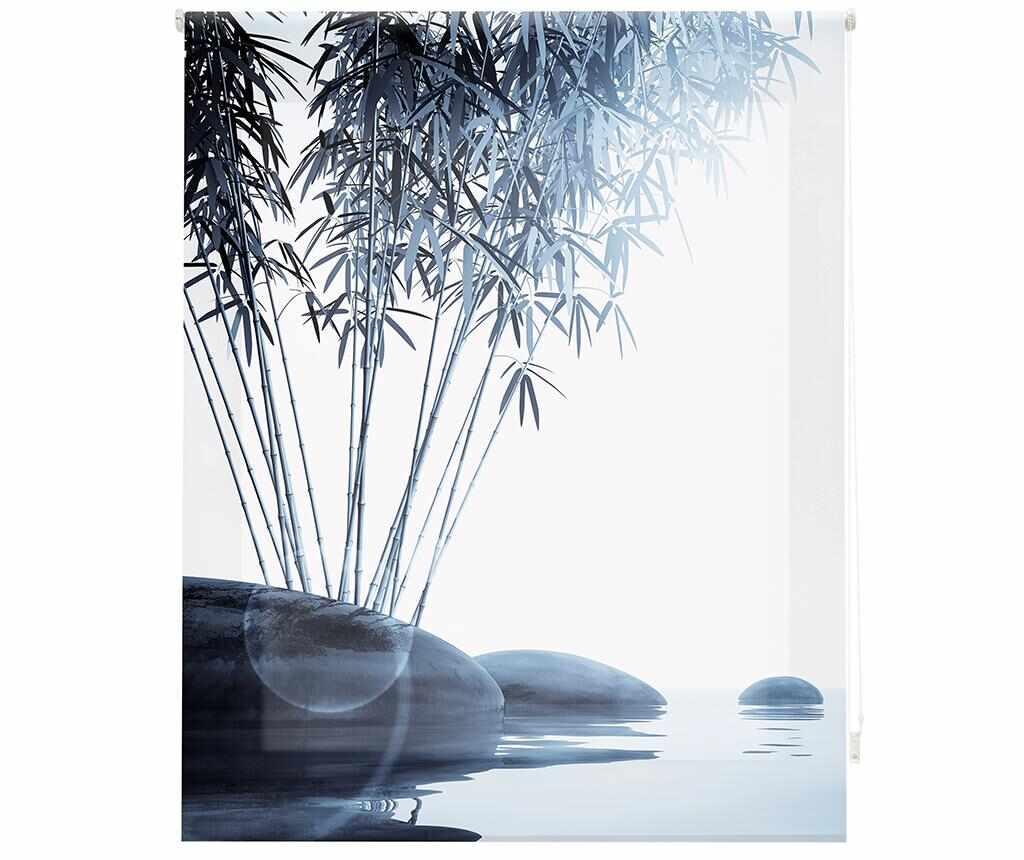 Jaluzea tip rulou Bamboo and Stones 100x180 cm - Blindecor, Gri & Argintiu la pret 159.99 lei