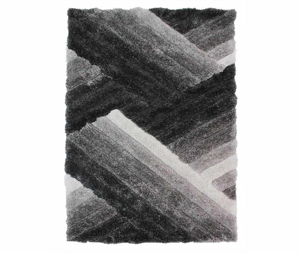Covor Lattice Grey and Silver 120x170 cm - Flair Rugs, Gri & Argintiu