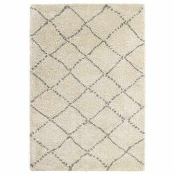 Covor Think Rugs Royal Nomadic Cream & Grey, 160 x 230 cm, gri - crem
