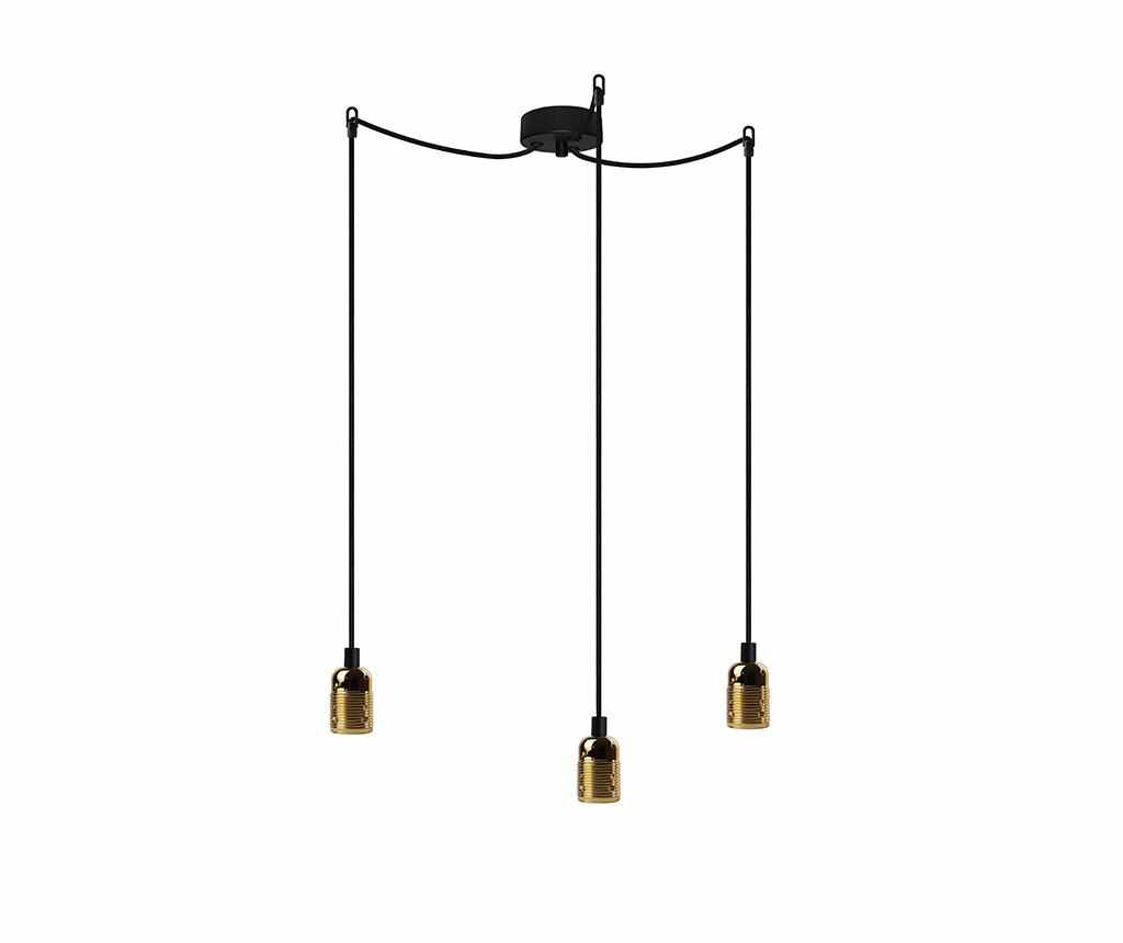 Lustra Uno Basic Brass Black Three - Bulb Attack