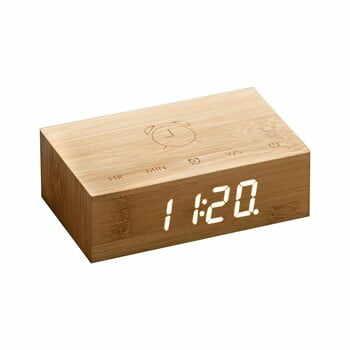 Ceas deșteptător cu LED Ginko Flip Click, maro deschis la pret 276 lei