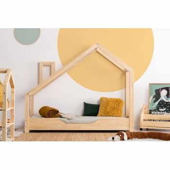 Pat din lemn de pin în formă de căsuță Adeko Luna Bek, 70 x 190 cm la pret 1643 lei