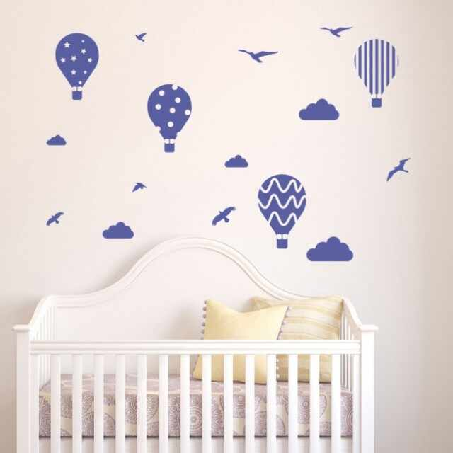 Tablou Canvas Hot Air Balloon Birds Clouds la pret 64.9 lei